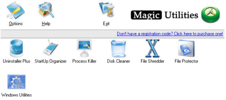 Magic Utilities windows
