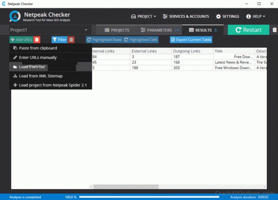 Netpeak Checker latest version