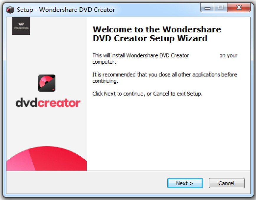 Wondershare DVD Creator windows