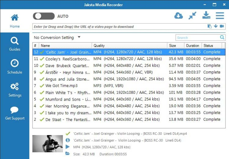 Jaksta Media Recorder latest version