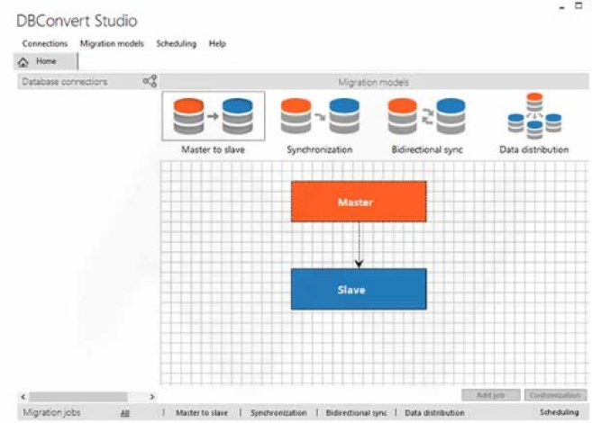 DBConvert Studio windows