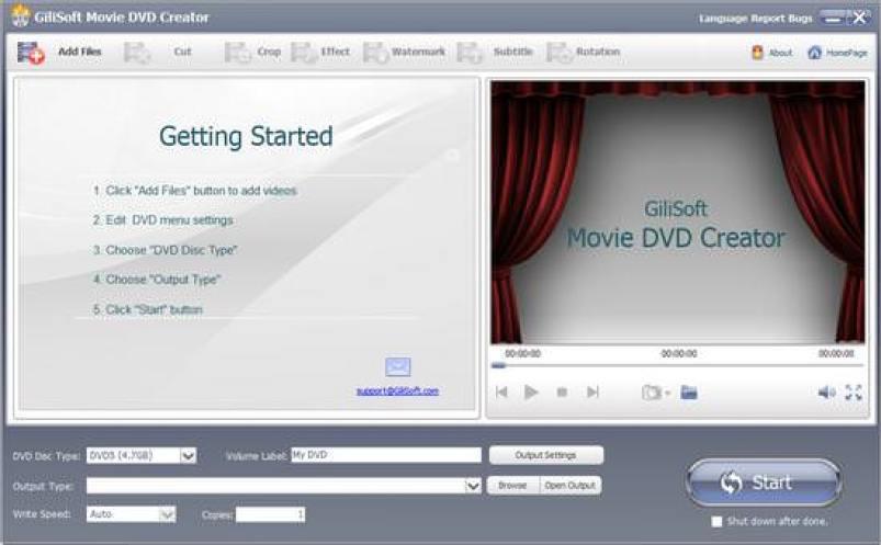 GiliSoft Movie DVD Creator windowss