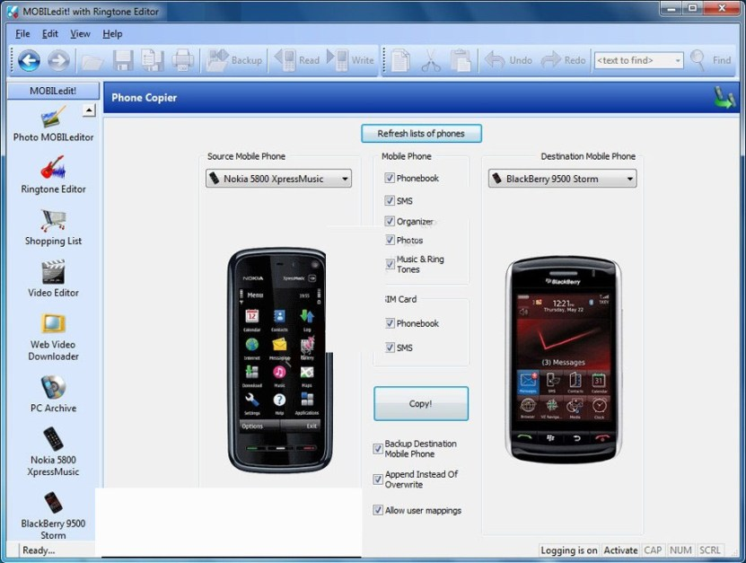 MOBILedit Phone Copier Express latest version