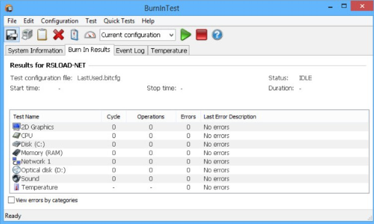 PassMark BurnInTest Pro latest version