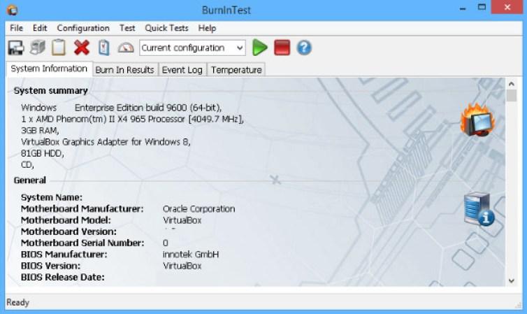 PassMark BurnInTest Pro windows