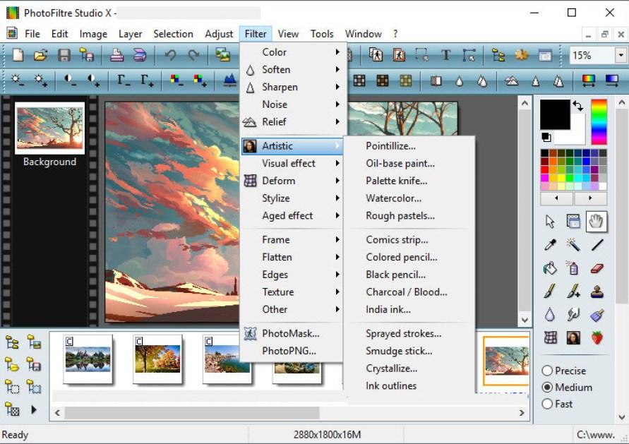 PhotoFiltre Studio X windows