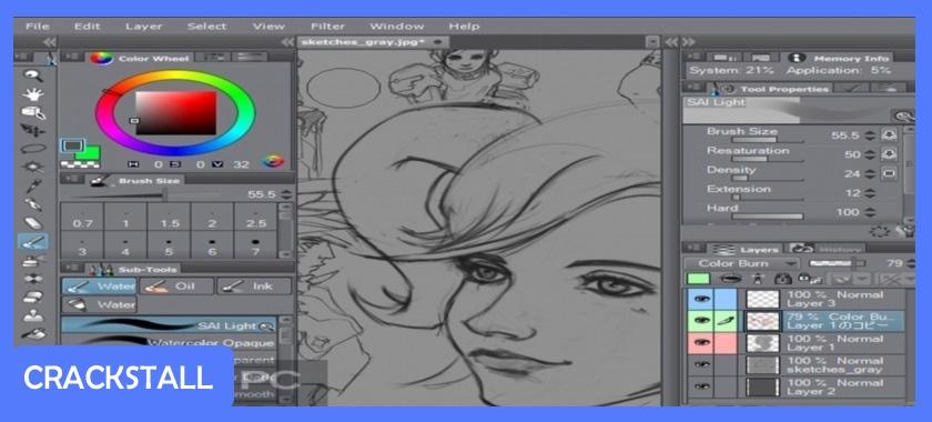 Clip Studio Paint EX v1.6.3 – 32 bit / 64 bit + Materials-crack softwares