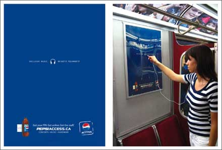 pepsi access mp3 posters
