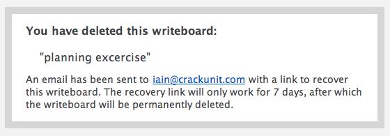 WritePad Delete Confirmation