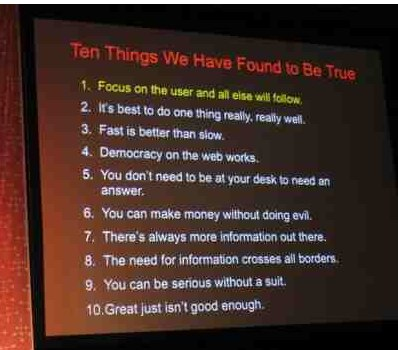 10 things google learned