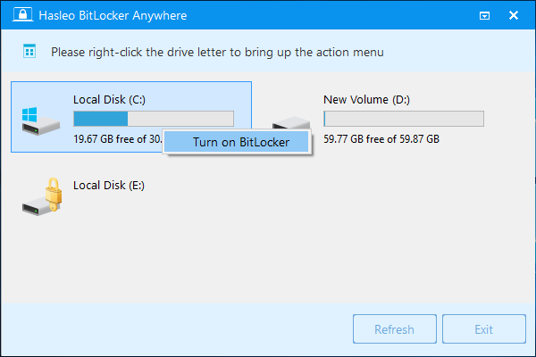Hasleo BitLocker Anywhere 8.0 Release 1