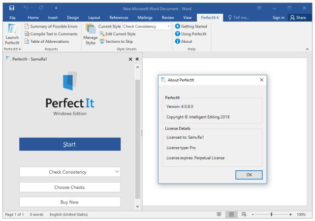 Intelligent Editing PerfectIt Pro crack