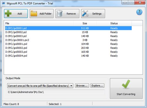 Mgosoft PCL To PDF Converter crack