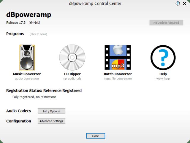 dBpoweramp Music Converter R17.3 Reference