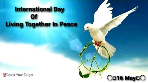International Day Of Living Together In Peace