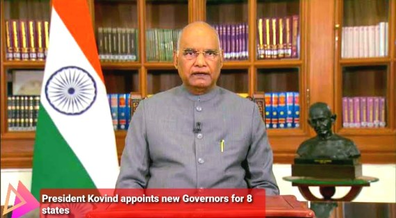 President Kovind appoints new Governors for 8 states