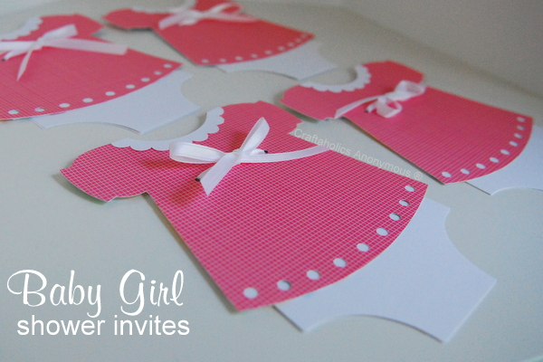 Craftaholics Anonymous Handmade Baby Shower Invitations