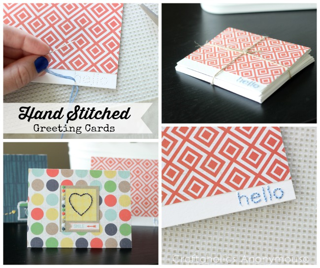 Craftaholics Anonymous Hand Stitched Note Cards With