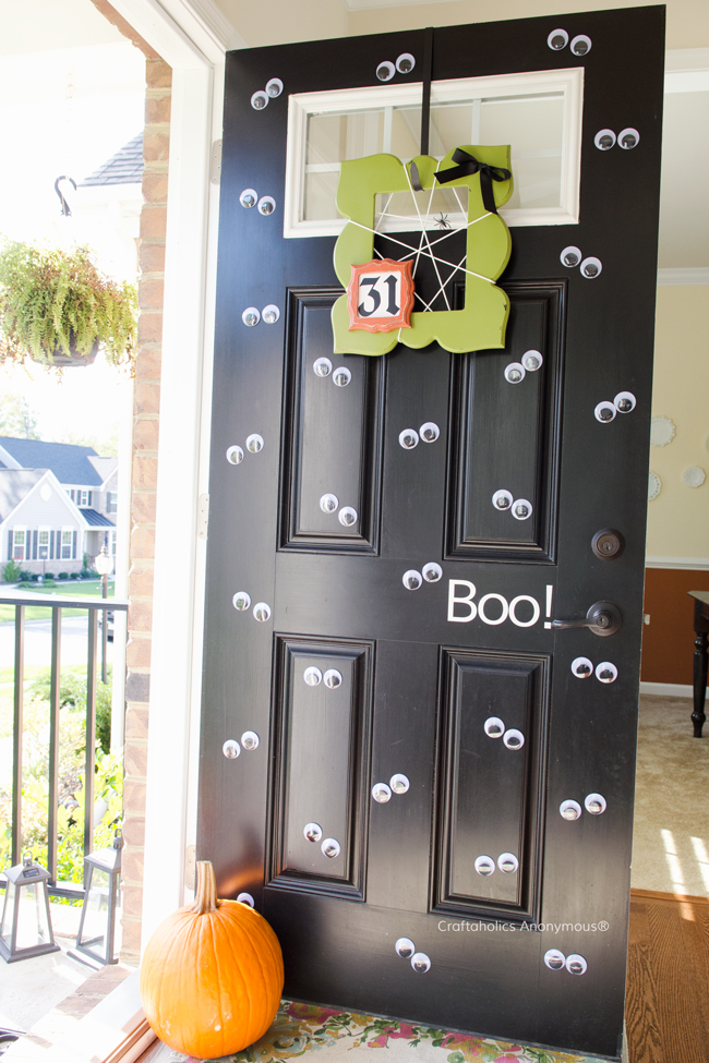 Craftaholics Anonymous Halloween Googly Eye Door