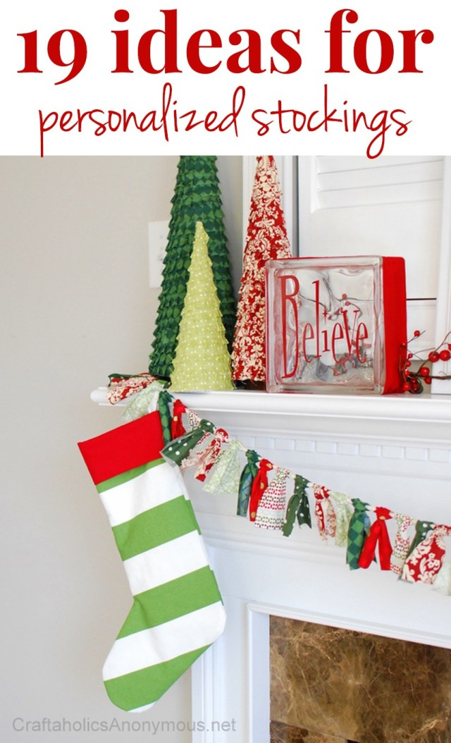 Craftaholics Anonymous®  27 Ways to Personalize a Stocking