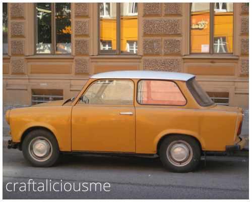orange trabant in Berlin