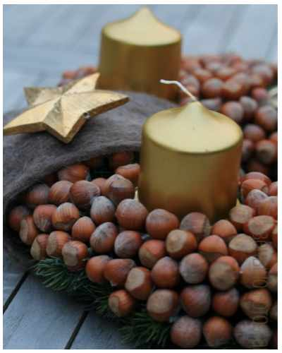 advent wreath nuts
