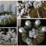 Forest inspired moss wreath {advent wreath ideas}