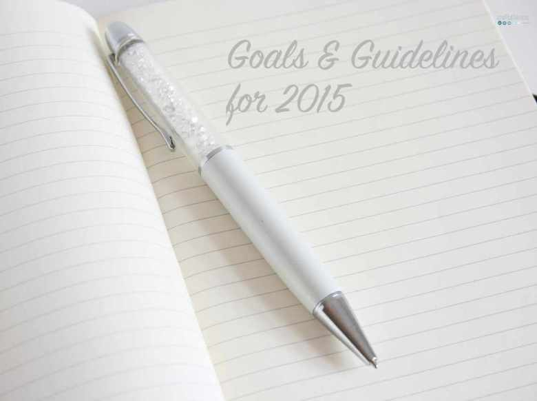 goals and guidelines for 2015