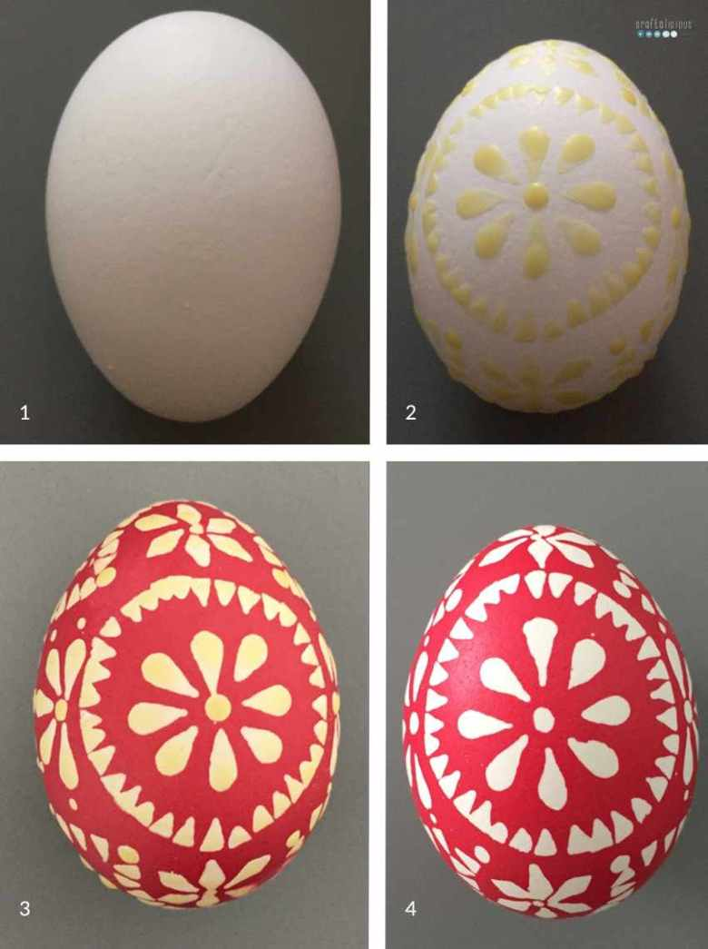 tutorial sorbian easter eggs 1 color