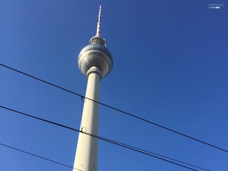 winter happens Berlin blue sky tv tower