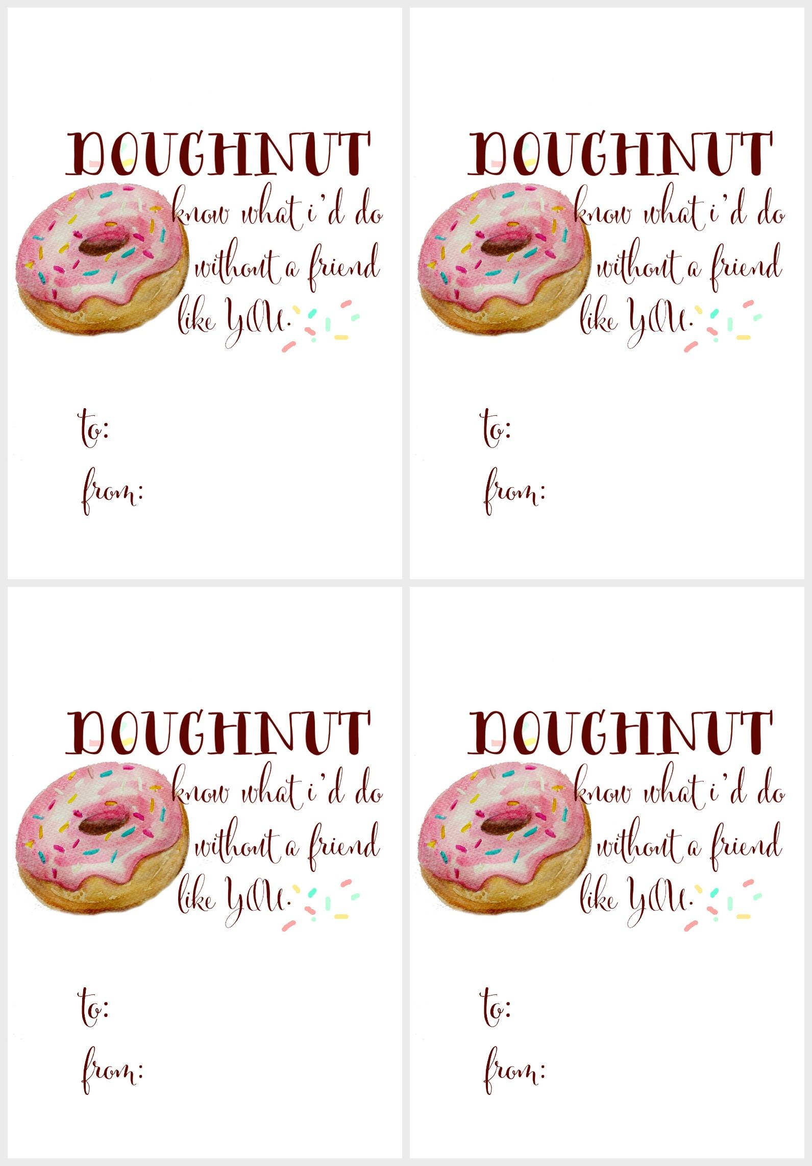 Free Watercolor Doughnut Printable S