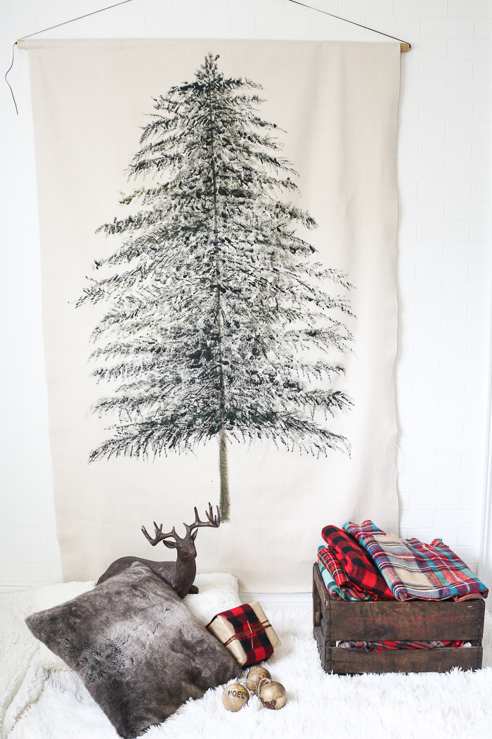 Christmas Tree Tapestry DIY