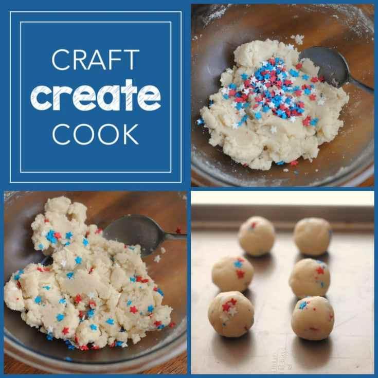 Patriotic Cookie Dough Truffles