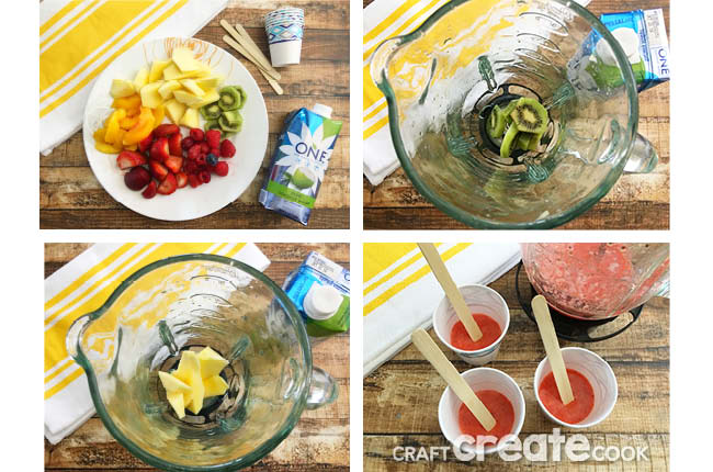 You don't really need to have a party to make these rainbow party ice pops, but they will be a big hit if you do!