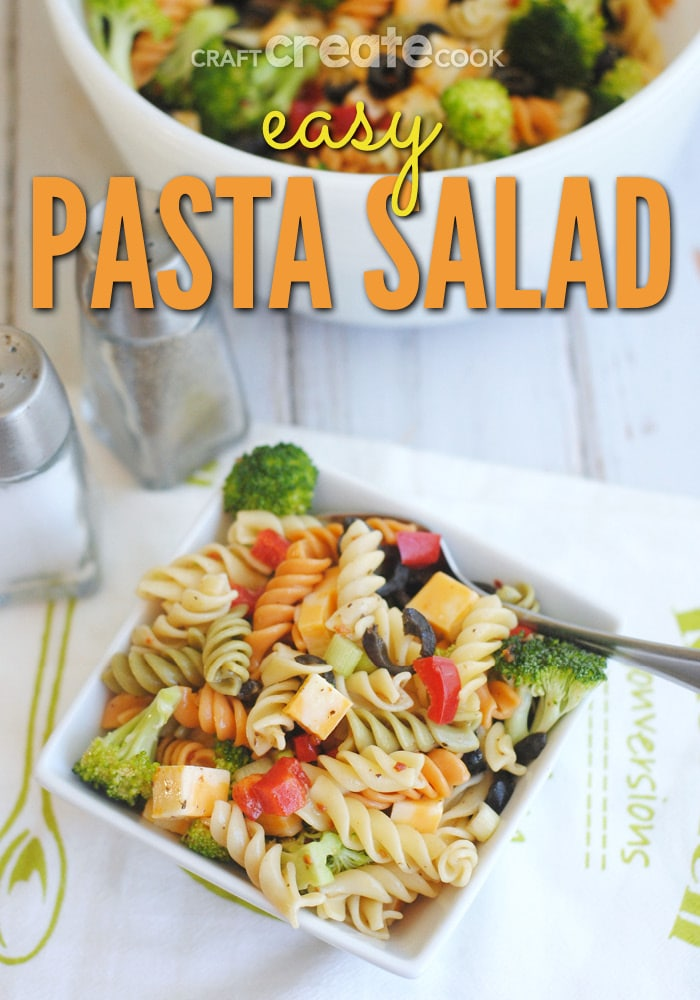 Your family will love this classic easy pasta salad that is perfect for all occasions!