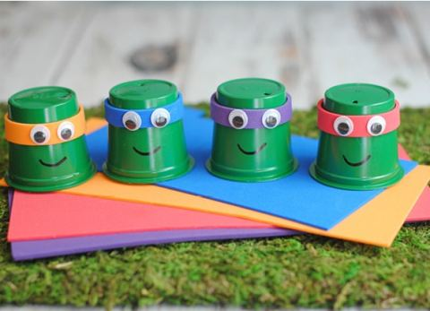 Your kids will love this fun TMNT craft that uses k-cups!
