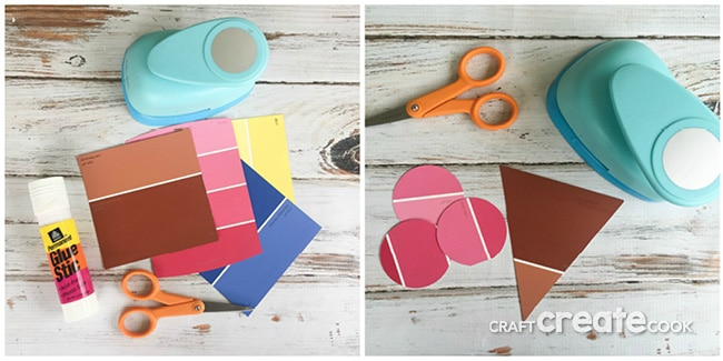This adorable Ice Cream Paint Chip craft is fun and easy to make!