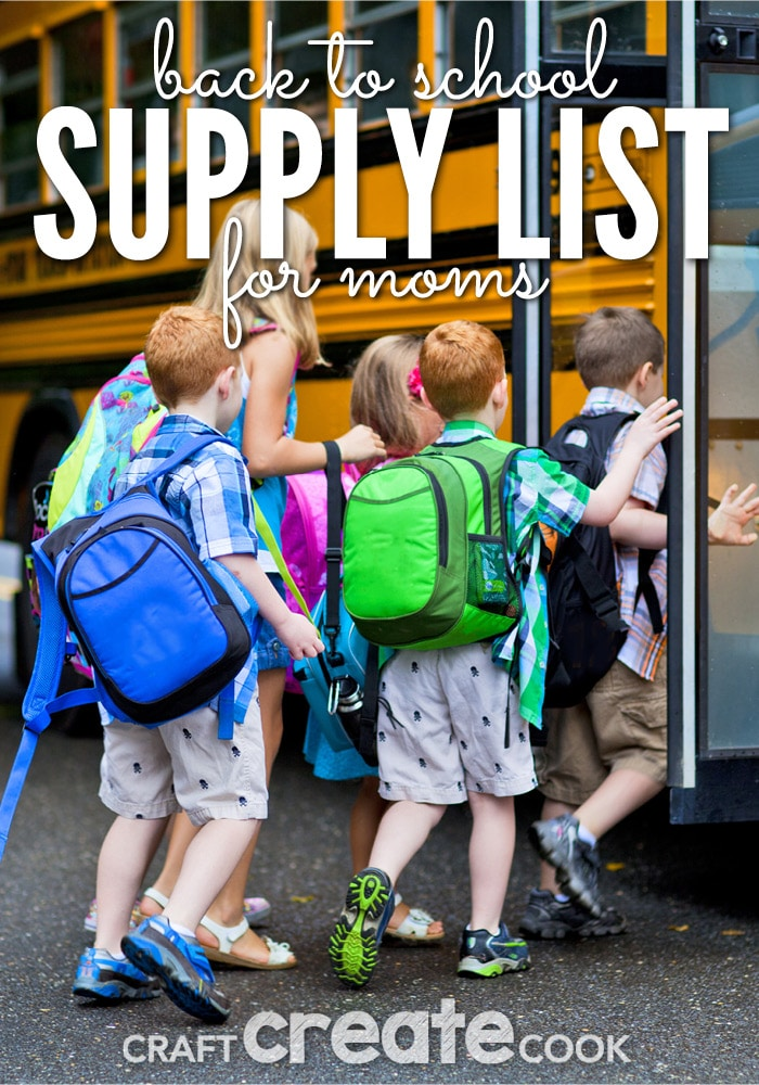 You will love these fun back to school supply ideas for mom!
