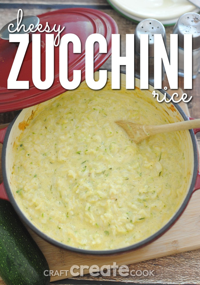 This Cheesy Zucchini Rice Recipe is delicious and perfect for fall!