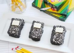 These Mini Rice Krispie Treat Composition Books are as cute as they are yummy!