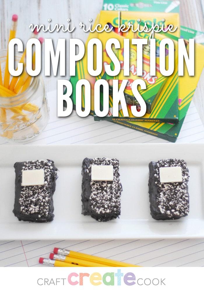 Mini Rice Krispie Composition Books