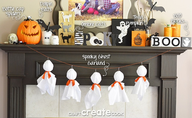 Easy to make Halloween Decorations from Craft Create Cook