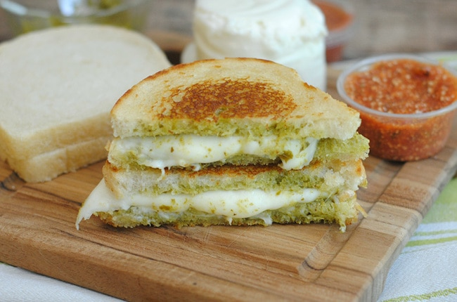 If you love grilled cheese this Mozzarella Pesto Grilled Cheese Sandwich will leave you asking for more.
