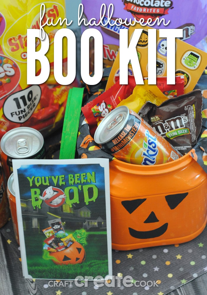 This Fun Halloween BOO Kit is perfect for surprising friends and coworkers this Halloween!