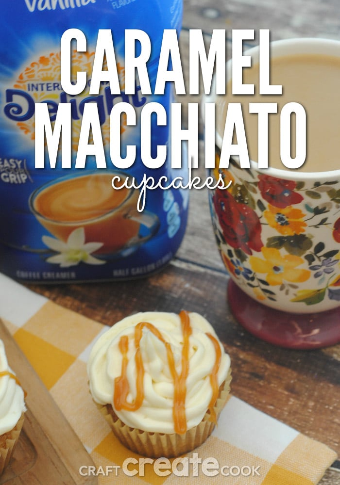 These Caramel Macchiato Cupcakes are delicious and perfect with a cup of coffee!