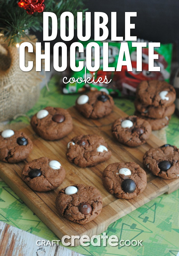 If you love chocolate, you will love these double chocolate cookies!