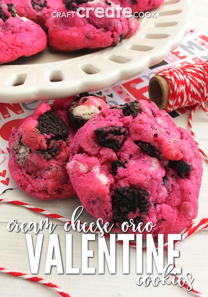 There's no better excuse to bake these delicious Cream Cheese Oreo Cookies than making for your sweetheart for Valentine's Day.