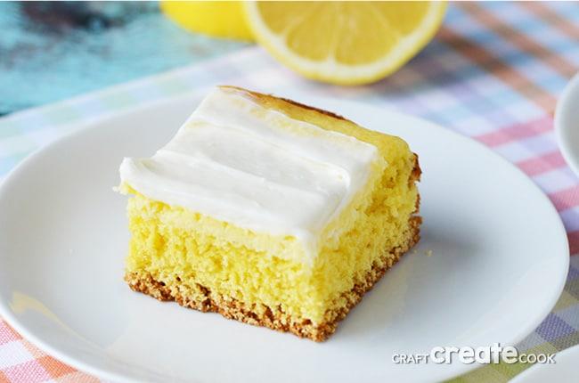 Cream Cheese Lemon Bars from CraftCreateCook.com