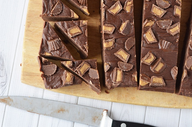 You'll be surprised how easy it is to make this decadent Reese's Chocolate Peanut Butter Fudge.