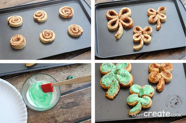 St. Patrick's Day Cinnamon Rolls are sure to be the luckiest breakfast!